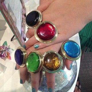 Glass Adjustable Rings