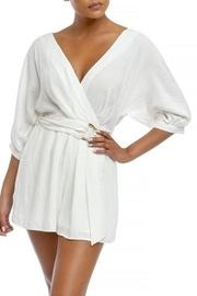 Pleated Wrap Romper