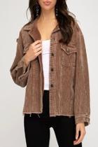 Corduroy Button-down Jacket