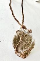 Bronze Quartz Necklace