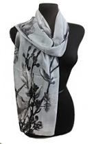 Cherry Blossom Chiffon-scarf