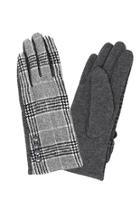 Button Plaid Gloves
