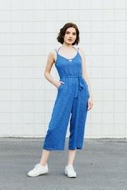 Blue Polka-dot Jumpsuit