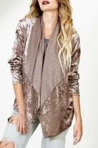 Cascade Velvet-drape Jacket
