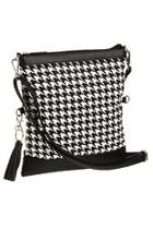 Houndstooth Canvas Bag