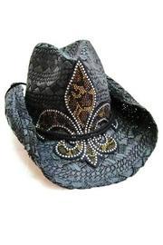Leopard Fleur-de-lis Hat