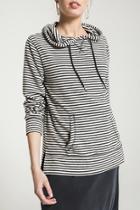 Stripe Soft Spun Knit Hoodie