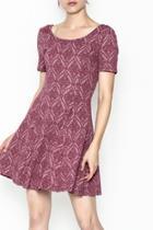 Patterned Deep Pink Dress