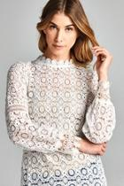 White Romantic-lace Top