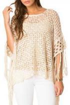 Crochet-fringe Sweater