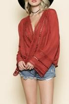 Romantic Crochet Trim Top