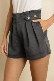 Tortoise Button High Waist Shorts