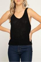 Sleeveless Knit Sweater Top