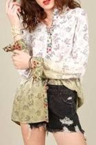 Dip Dyed Floral Shirt