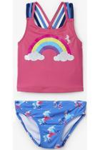 Rainbow Unicorn Sporty Tankini Set