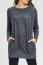 Charcoal Brushed Tunic