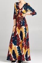 Palmleaf Wrap Dress