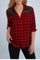 Plaid & Lace Shirt