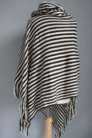 Striped Fringed Poncho