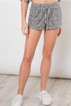 Leopard Drawstring Shorts