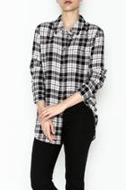 French Nude Plaid Top