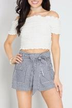 Peekaboo Striped Shorts