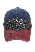 Gunmetal Flower Trucker-hat