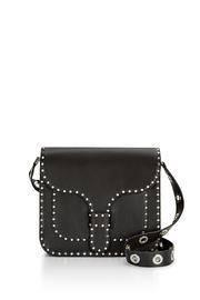 Studded Leather Messenger