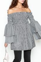 Bell Sleeve Stripe Tunic