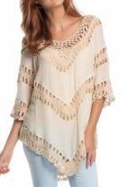 V-neck Crochet Top