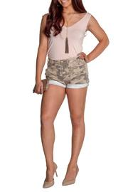 Light Camo Rolled Shorts
