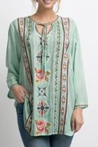 Placid Embroidered Top