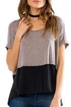 Colorblock Short-sleeve Top