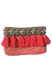 Straw Embroidered Clutch