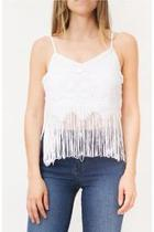 Lace Fringed Top
