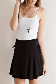 Solid Ruffle Skirt