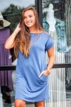Casual Denim Pocket Dress
