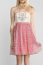 Pink Patterned Dress