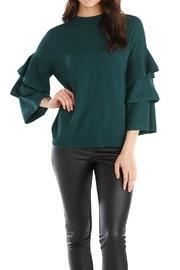 Peacock Ruffle-sleeve Sweater