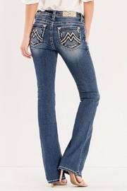 Signature Embroidered Midrise-bootcut