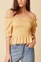 Maize Off-shoulder Top
