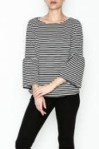 Stripe Bell Sleeve Shirt