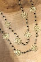 Semi-precious Flower Necklace