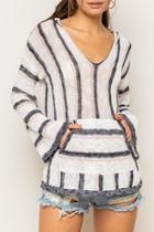 Boho Striped Hoodie