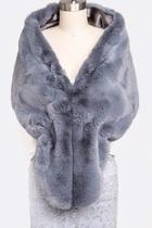 Faux Fur Shawl-scarf