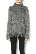 Turtleneck Fringe Sweater