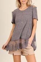 Heather-tunic Lace Hem