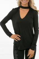 Vneck Mock Top
