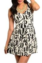 Numbers Sleeveless Dress
