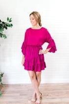 Berry Ruffle Dress